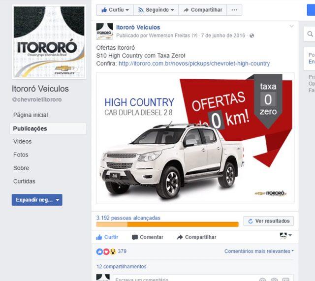 Campanha Facebook Ads