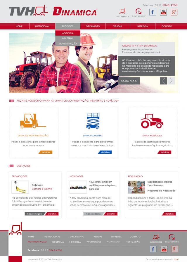 Criação de site TVH