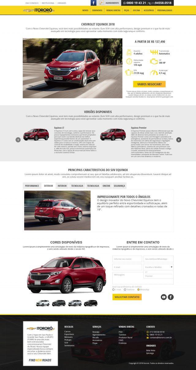 página de carros novos chevrolet