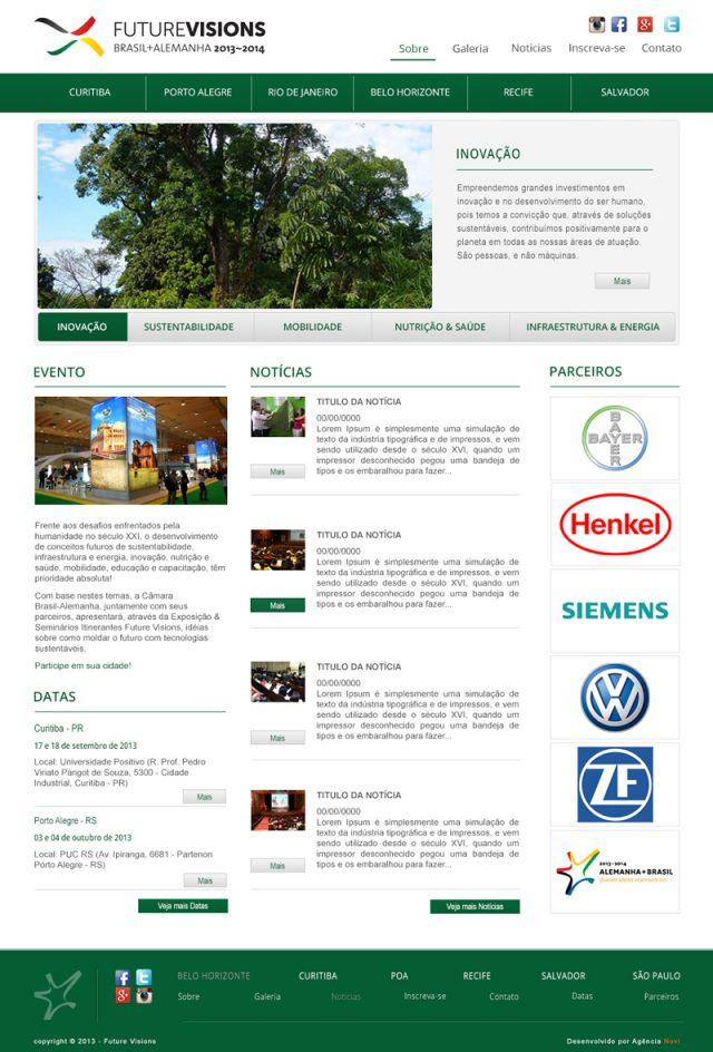 Criação de site para eventos
