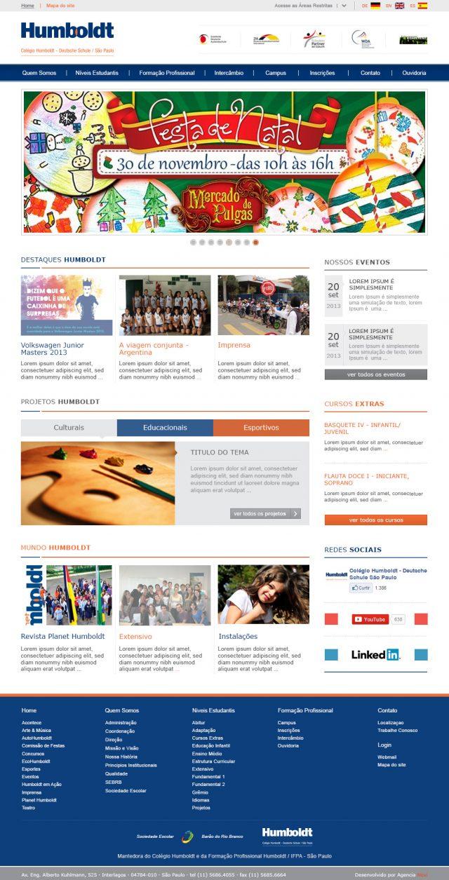 Desenvolvimento de site multilinguagem