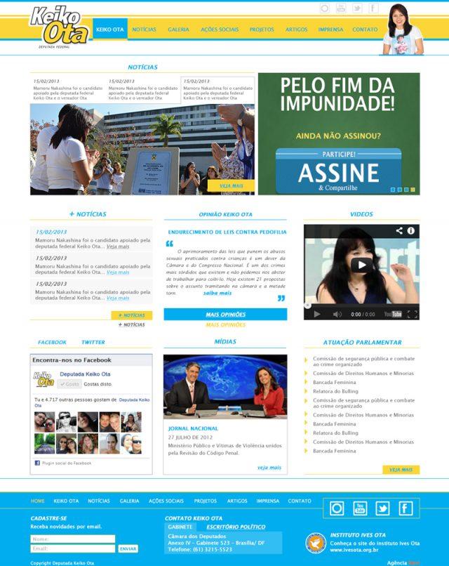 Desenvolvimento de site politico