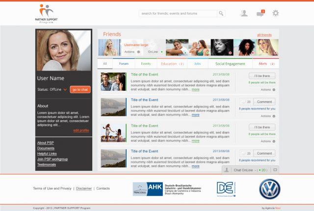 Criação de site de interação